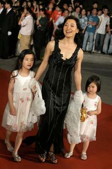 Family photo of the actress director , married to Peter Hui ,  famous for Heaven & Earth & Golden Gate.